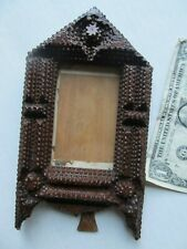 BEAUTIFUL VERY FANCY & SCARCE Antique Victorian TRAMP ART Picture Frame, GIFT