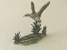 Duck in flight  Pewter Figurine Paperweight Ornament 3D CODEE4
