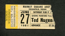 1981 Ted Nugent Blackfoot Krokus concert ticket stub Indianapolis Scream Dream