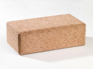 Yoga Block aus Kork, 227x120x75mm, auf Wunsch personalisiert mit Initialen