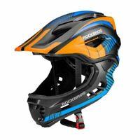 Rockbros Child Full Face Helmet Motorcycle Detachable Helmet With Rear Light New