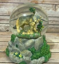 San Francisco Music Box Company Free As The Wind Snow Globe Wolves National Geo