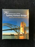 2007 RAM $1 FINE SILVER PROOF COIN - 75th ANNIVERSARY SYDNEY HARBOUR BRIDGE