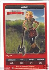 Carte Carrefour Dreamworks n° 118/216 - DRAGONS - Astrid