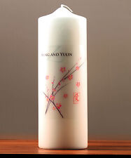 Cherry Blossom Personalized Unity Candle Ceremony Wedding Candles