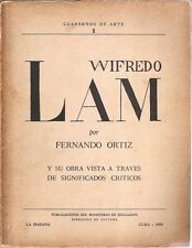 WIFREDO LAM by Fernando Ortiz, 1950. Art Cuban Painting Catalog.