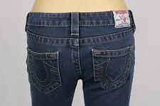 True Religion Jeans size 25 USA Denim skiny blue womens juniors stretch