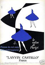 Collant LANVIN CASTILLO publicité 1959 Italie cape nylon Manteau Cape Capuche