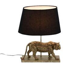 Tischlampe Tiger messing gold schwarz Tischleuchte Lampe Leuchte Deko midcentury