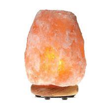 WBM Himalayan Salt Lamp w/Neem Wood 5-7lbs
