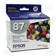 4pk Genuine Epson 87 Gloss Optimizer T0870 T087 T087020 for Stylus Photo R1900