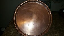 """SOLID COPPER LARGE SERVING TRAY / PLATTER 15"""" WIDE"""