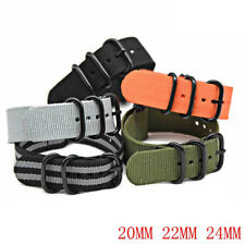 New Military Nylon Sports Watch Replacement Strap Band For Watch 20mm 22mm 24mm