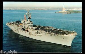 USS Guadalcanal LPH-7 postcard US Navy amphibious assault ship (card1of3)
