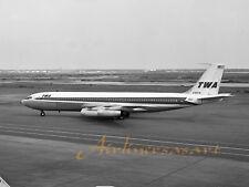 """TWA Boeing 707-331 N769TW Taxiing at IDL in 1960 8""""x12"""" B&W Print"""