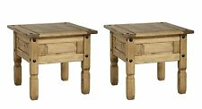 PAIR OF MEXICAN PINE CORONA LAMP / SIDE / END TABLES *FREE NEXT DAY DELIVERY