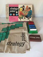 vintage milton bradley board games Strategy A Poker 1968
