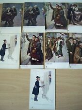 9xVintage1900's-1925 postcard collection Town life Phil May series