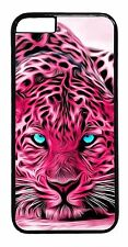 Animal Print Leopard Pink Tiger Art Case For iPhone Models Rubber /Hard Cover