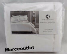 Hotel Collection European Linens Ladder Stitch KING Duvet Cover White