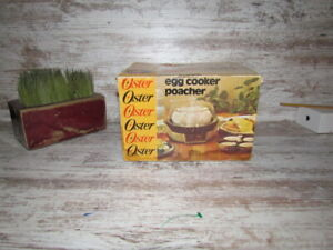 Vintage Oster Automatic Electric Egg Cooker & Poacher in Original Box