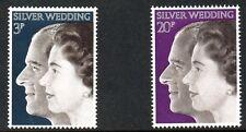 British 1972 Royal Silver Wedding MNH set