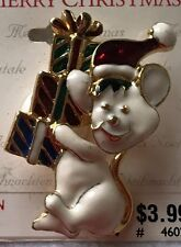 JEWELRY Christmas enamel gold plated MOUSE GIFTS BROOCH PIN motion pin