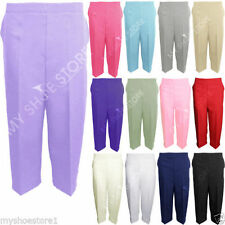 Polyester Straight Leg Mid Capri, Cropped Trousers for Women
