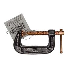 New KING 2 Inch C Clamp, Strong Grip Iron Body Copper-Plated Steel Screw G Clamp