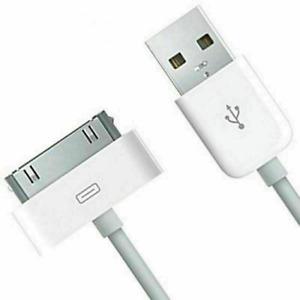 CHARGEUR POUR IPHONE 4 IPHONE 4S CÂBLE USB RENFORCÉ IPOD IPAD 1M BLANC NEUF