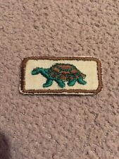 "Iron On 1 3/4"" Turtle Patch Embroidered Brown  Or Green Border"