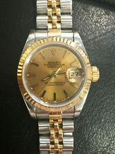 Authentic Vintage Ladies Rolex Date Gold Steel Wristwatch 69173 ca.1991 Serviced