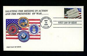 US FDC #2966 Washington DC 1995 POW & MIA Military P D Sarmiento Cachet