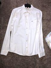 Hollister Medium White Button Down Shirt