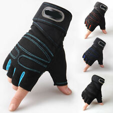 Gym Fitness Gloves Men's Weight Lifting Workout Cross Training Wrist Strap Wrap