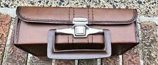 Vintage 80's Brown Cassette Tape Carrying Case -Music Accessories - Twelve (12)