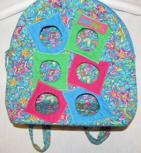 NWT JACKPOPZ BACKPACK CARRIER 4 WEBKINZ PLUSH TOY QUILTED STARS&HEARTS FREE SHIP