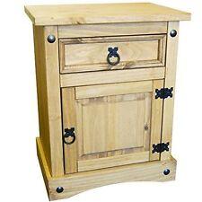 Bedside Cabinet Chest Mexican Solid Pine Wood Vida Designs CORONA Door Drawer