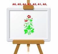 Wild Cransbill/Geranium Flower Stencil 350 micron Mylar not thin stuff#FL027