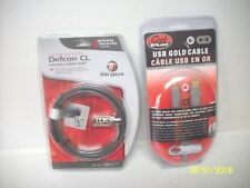 Laptop Security Defcon CL Combo Cable Lock & Geek Squad USB Gold Tip Cable NIP