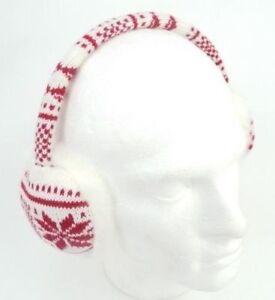 Premier Headphone Earmuffs In Red & White Brand New & Sealed