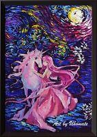 Unicorn The Last Unicorn Wall Decor Print Van Gogh Starry Night Wall Art A055