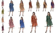 50 PC Wholesale Lot Indian Robes Silk Wraps Dress Women's Bathrobe Evening Gown