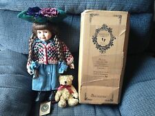 BOYD Bears YESTERDAYS CHILD COLLECTIBLE Porcelain DOLL Karen & Ashley Teddy Bear