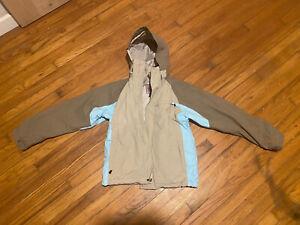 Burton Womens Snowboard Ski Winter Jacket &  Tri-Lite Pants Size Small Blue/Tan
