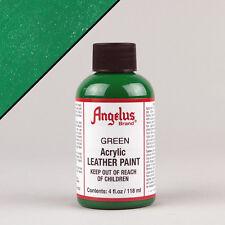 ANGELUS Acrilico Pelle Vernice Verde 4oz (118ml) resistenti all'acqua non crepa