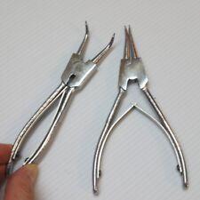 2 Pcs External Snap Retaining Ring Clip Circlip Removal Pliers for Locksmith