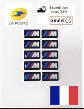 10 AUTOCOLLANT STICKERS 3D  Logo BMW M Motorsport JANTES VOLANT