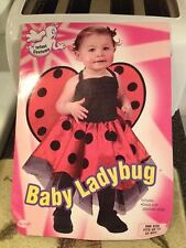 Infant Newborn Baby Ladybug with Wings Halloween Costume One Size Up To 24M New