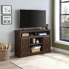 """52"""" Tv Stand Sliding Barn Door Console For Tv's Up to 60"""" Entertainment Center,"""
